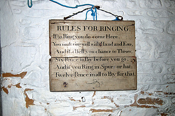 The rules for ringing September 2011