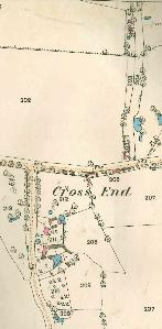 The western part of Cross End in 1884