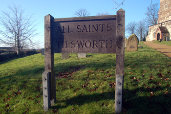 All Saints name board December 2008