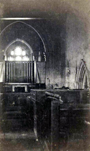 Church interior looking west about 1885