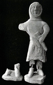 Figure of a knight found walled up in the church
