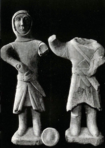 Figures of knights found walled up in the church