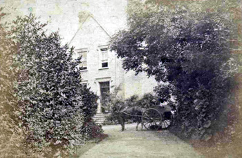 The Vicarage drive about 1880