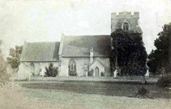 The church from the north about 1880