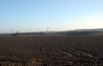 View from Dunstable Road towards Houghton Regis December 2008