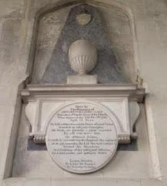 Monument to Edward Willaume in the church