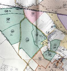Manor Farm land annotated on the sale particulars of 1916 [AD1147-92]
