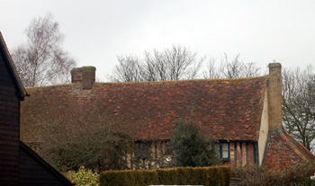 The rear of Lancotbury seen from Church Green February 2010