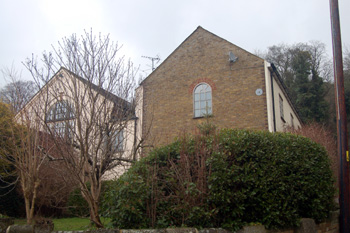 The rear of the former Methodist chapel and Sunday school February 2010