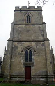 Totternhoe church from the west December 2008