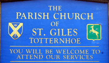 Totternhoe church sign February 2010