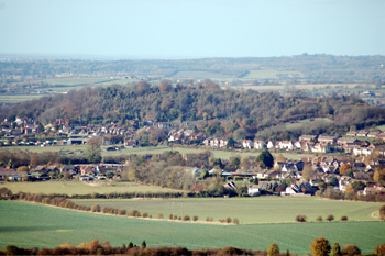 Totternhoe seen from Dunstable Downs November 2009