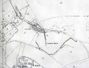 Upper part of Knolls View kilns and the quarries 1901