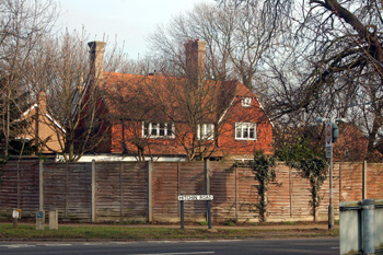 The Old Vicarage from Hitchin Road March 2010