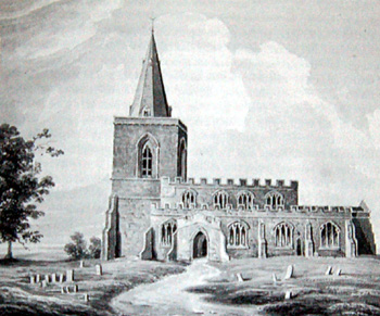 A painting of Dean church of about 1820