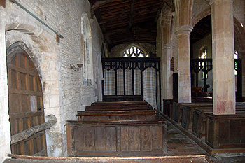 The north aisle looking east May 2011