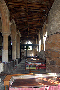 The south aisle looking east May 2011
