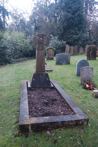The grave of Horace Hammond January 2010