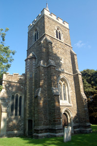 Westoning church from the west August 2009