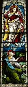 Christ in Majesty in the east window August 2010
