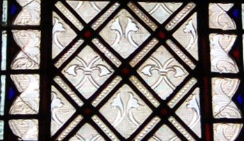 Detail of glass in the chancel south window August 2010