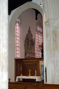 Looking from the nave into the Gostwick Chapel August 2010