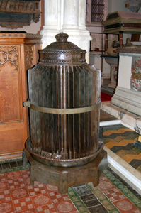 The Gurney stove in the chancel August 2010