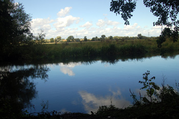 The River Great Ouse at Danish Camp August 2010