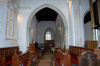 The chancel and nave looking west August 2010