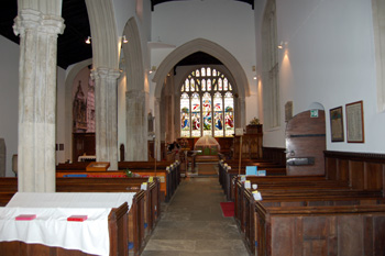 The nave and chancel looking east August 2010