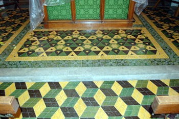 Tiles in the sanctuary August 2010