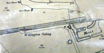 Willington Siding on a map of 1901