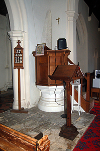 Pulpit and lectern June 2012