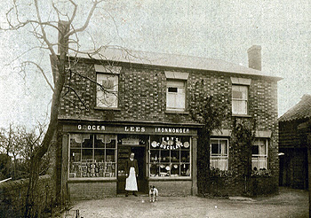 The Stores about 1914 with Henry Lees standing outside