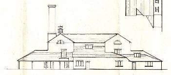Intended elevation for Park Farm Mill after proposed alterations in 19th century