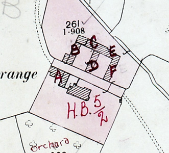 Utcoate Grange Farm on the map accompanying the 1926 valuation