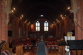 The interior looking west September 2012
