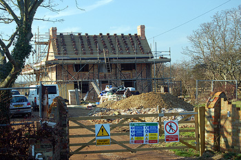 157 Bedford Road undergoing rebuilding March 2012