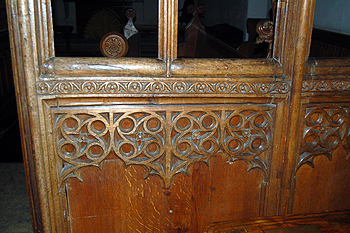 A detail on the rood screen June 2012