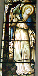 Angel from the chancel north window June 2012
