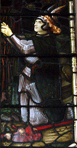 Charles Henry Dillon on the chancel north window June 2012