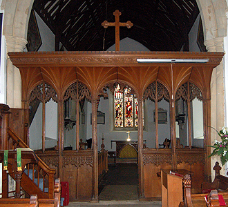 The rood screen June 2012