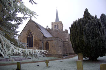 Wootton church from the north-east December 2007