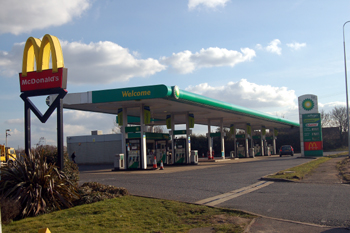 Filling Station near Forty Farm March 2010