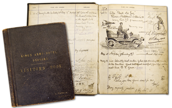 Kings Arms Visitor Book