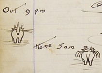 Sketch from Kings Arms Visitor Book